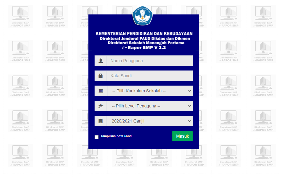 Pelaporan Hasil Penilaian Akhir Semester Ganjil TA 2020-2021
