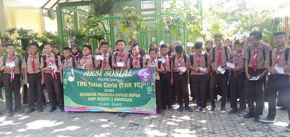 THR Yatim Ceria 2019 untuk Siswa SMP Negeri 2 Kraksaan